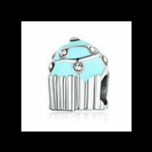 Blue 925 Silver European Style Bead Charm